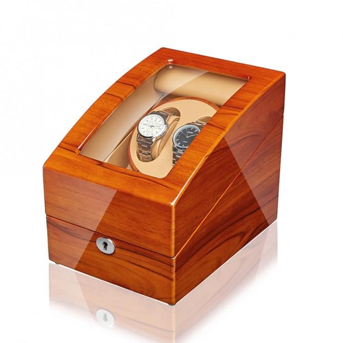 Best Jqueen Wooden Double Watch Winder Red