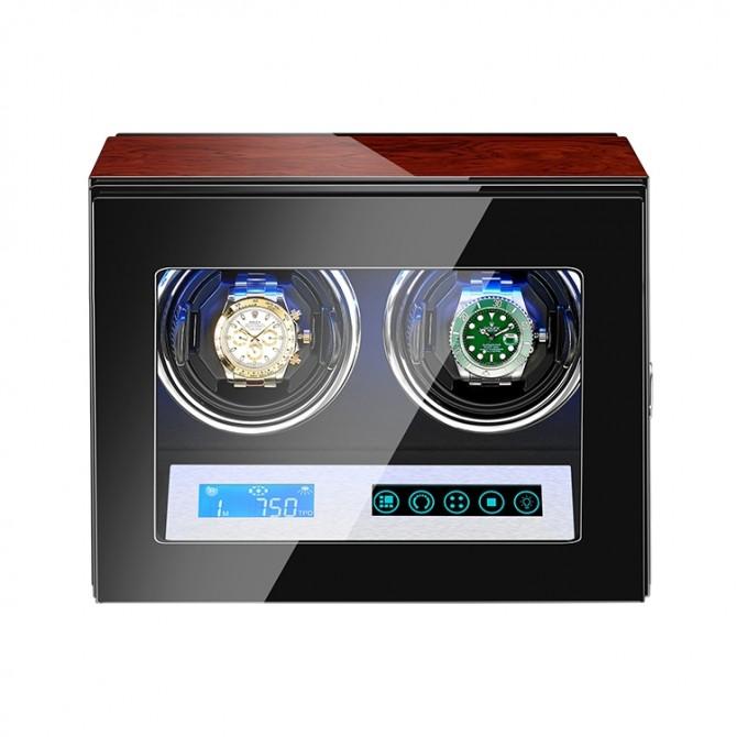 Jqueen Wooden Double Watch Winder Multicolor