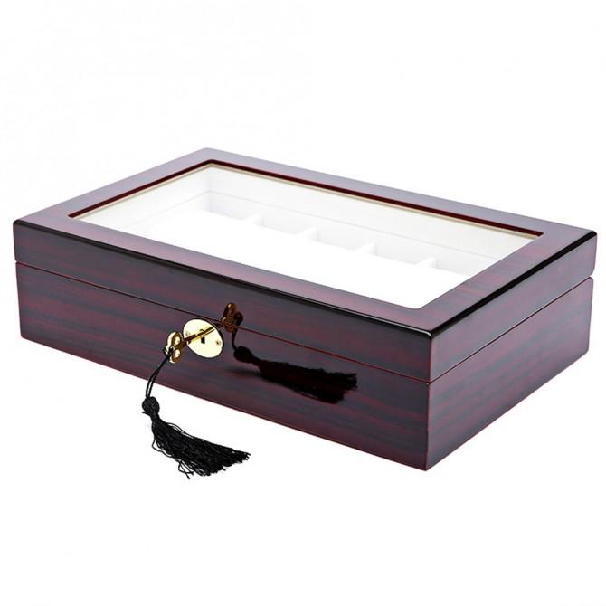 Jqueen Wooden Watch Box With 12 Slot Watch Case