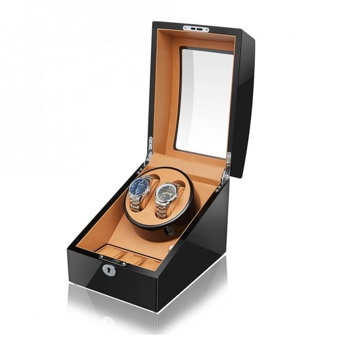 Luxury Sepano Wooden Double Watch Winder Black