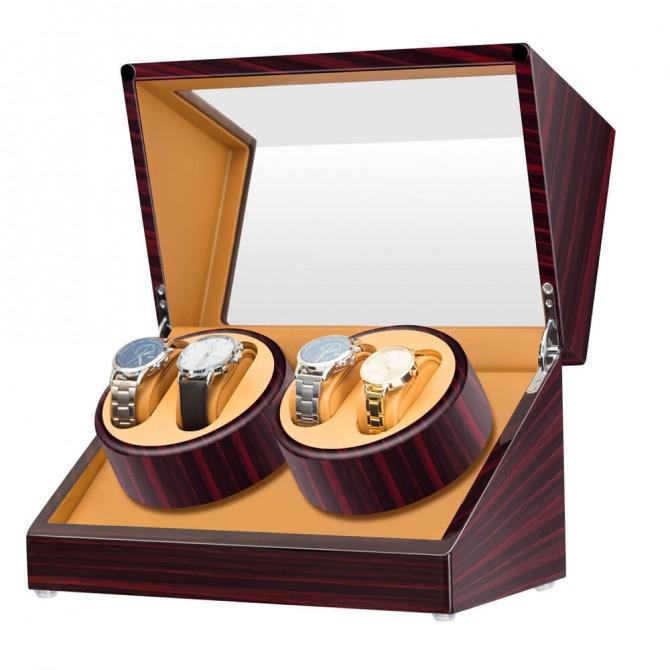 Discount Jqueen Wooden Quad Watch Winder Ebony