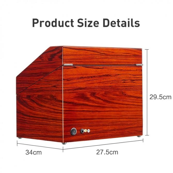 Best Jqueen Wooden Quad Watch Winder Red