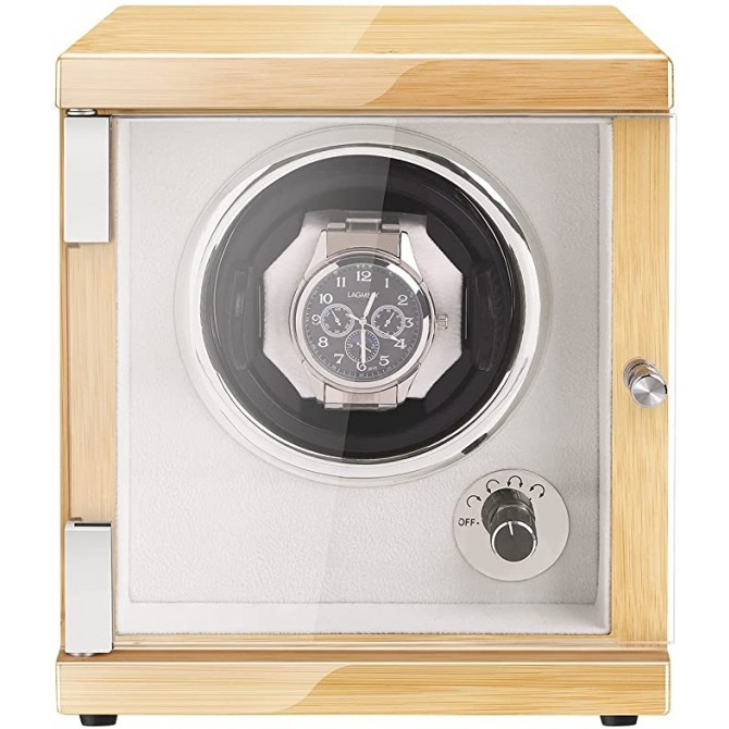 New Vertical Single Automatic Small Watch Winder Hevea Brasiliensis