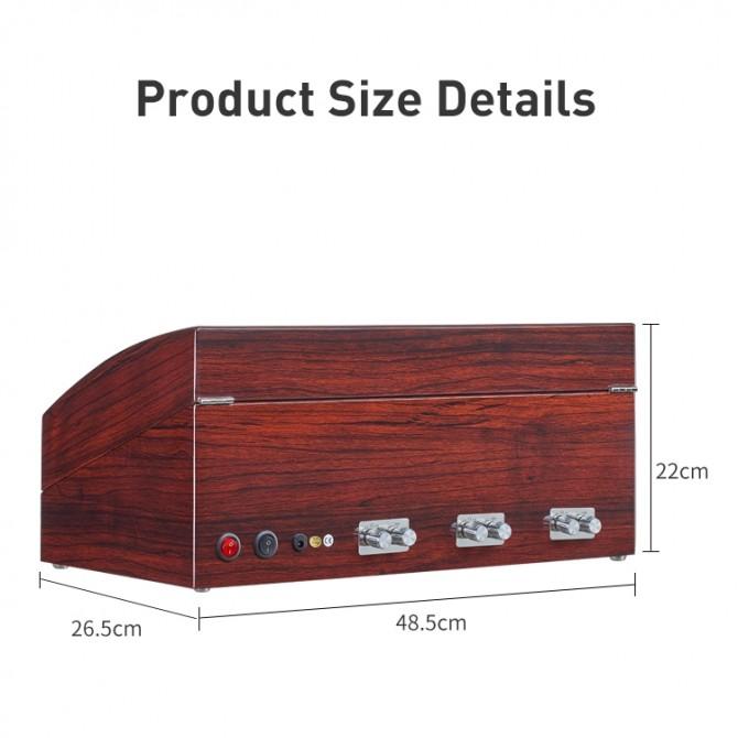 Discount Maselex Wooden Six Piece Watch Winder Red