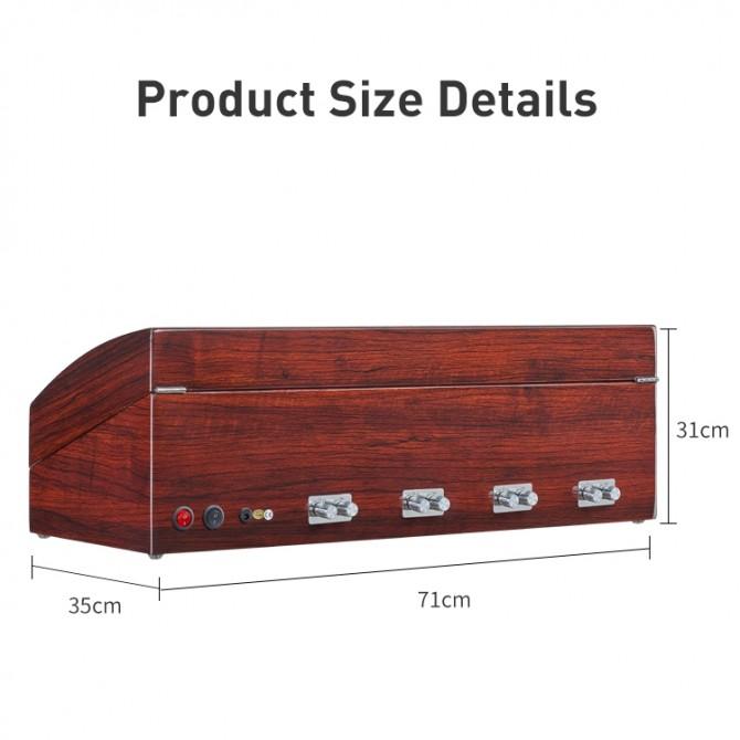 Luxury Maselex Wooden Eight Piece Watch Winder Red