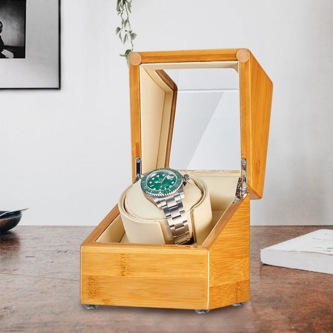 Best Jqueen Bamboo Single Watch Winder