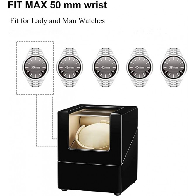 Sepano Single Automatic Watch Winder with Wood Shell Piano Paint Exterior