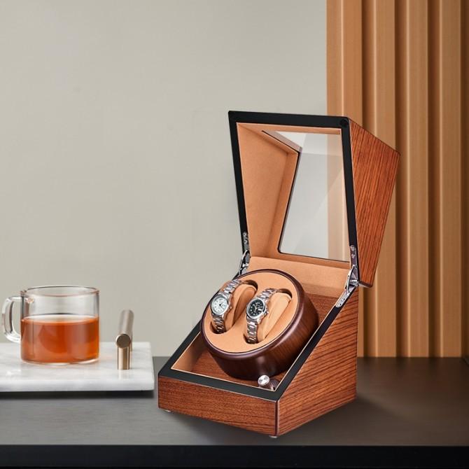 Best Jqueen Wooden Double Watch Winder Mandshurica