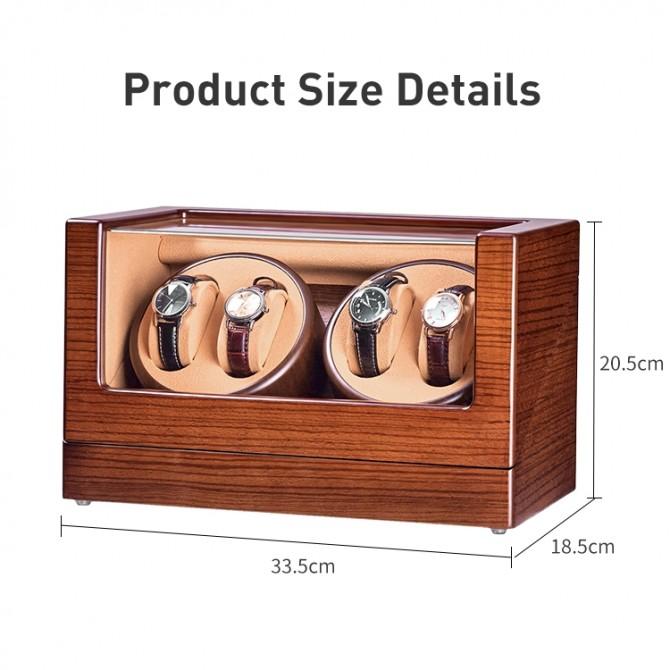 Luxury Jqueen Wooden Quad Watch Winder Red