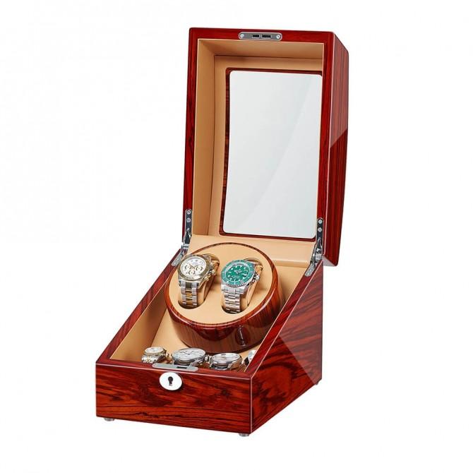 Discount Jqueen Apple Wooden Double Watch Winder Red