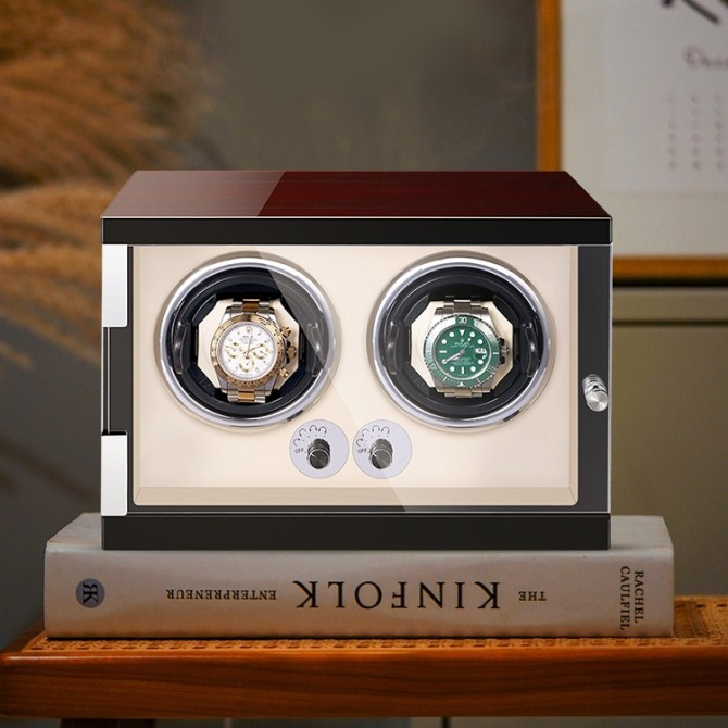 Discoun Jqueen Wooden Double Watch Winder
