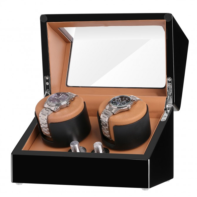 Sepano Double Watch Winders for Automatic Watches ---Black