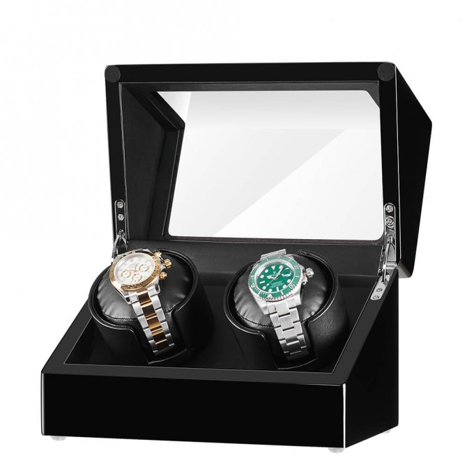 Sepano Wooden Double Watch Winders Black