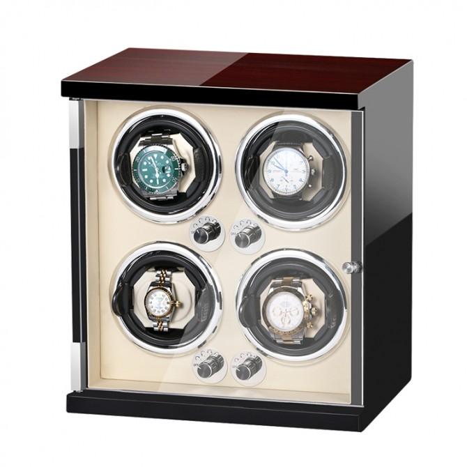 Luxury Jqueen Wooden Quad Watch Winder