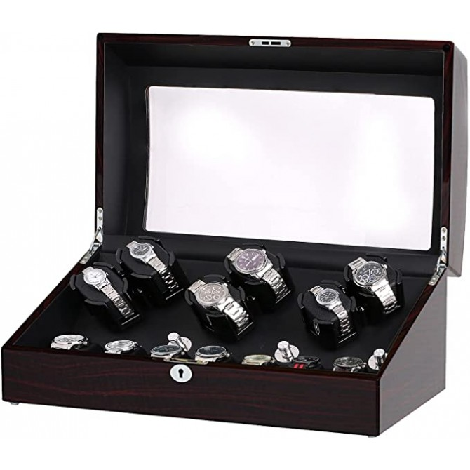 Sepano Automatic Watch Winder, 6 Watch Winder with 7 Watch Storage Place