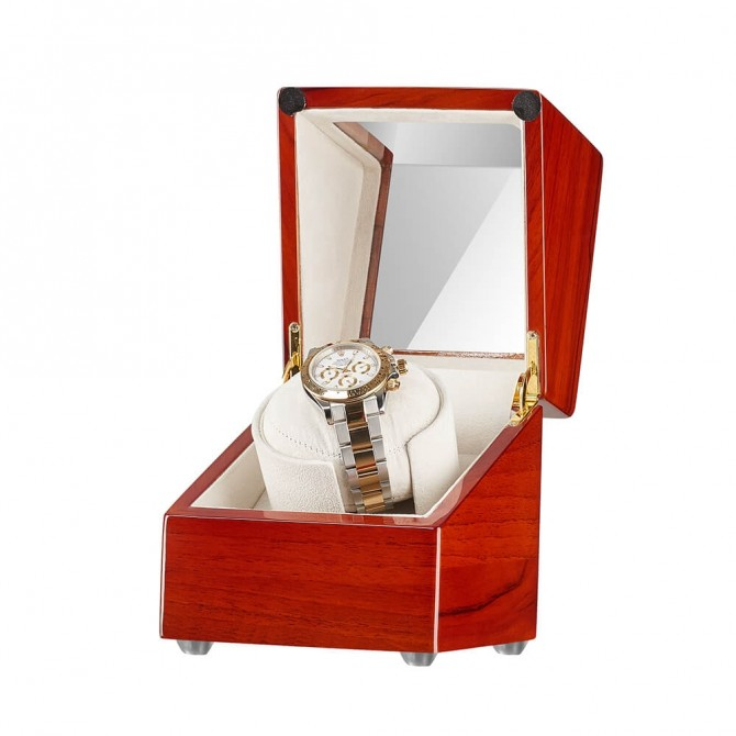 Jqueen Apple Wood Single Watch Winder Red