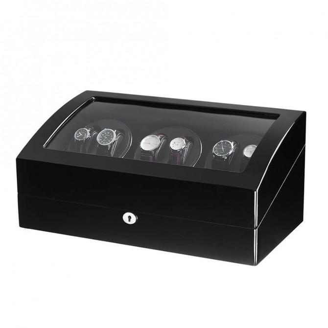 Discount Sepano Wooden Six Piece Watch Winder Black