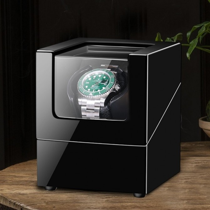 Small watch winder for single watch - Black