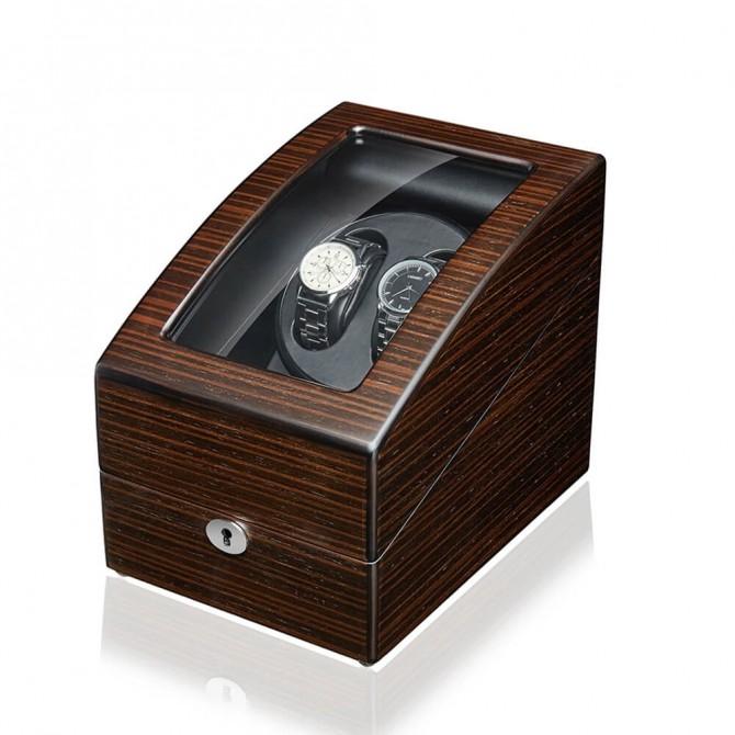 Discount Jqueen Wooden Double Watch Winder Brown