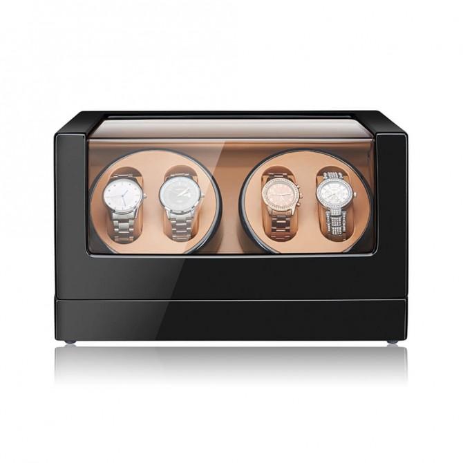 Sepano Wooden Quad Watch Winder Black