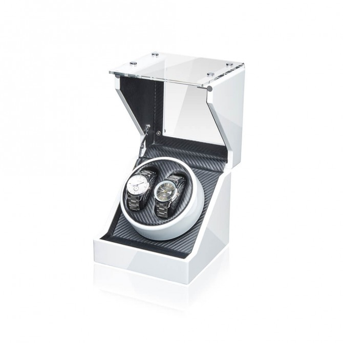 Best Jqueen Acrylic Double Watch Winder White