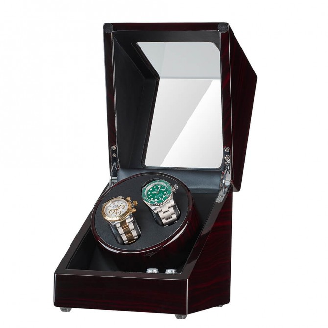 Discount Jqueen Wooden Double Watch Winder Black & Ebony