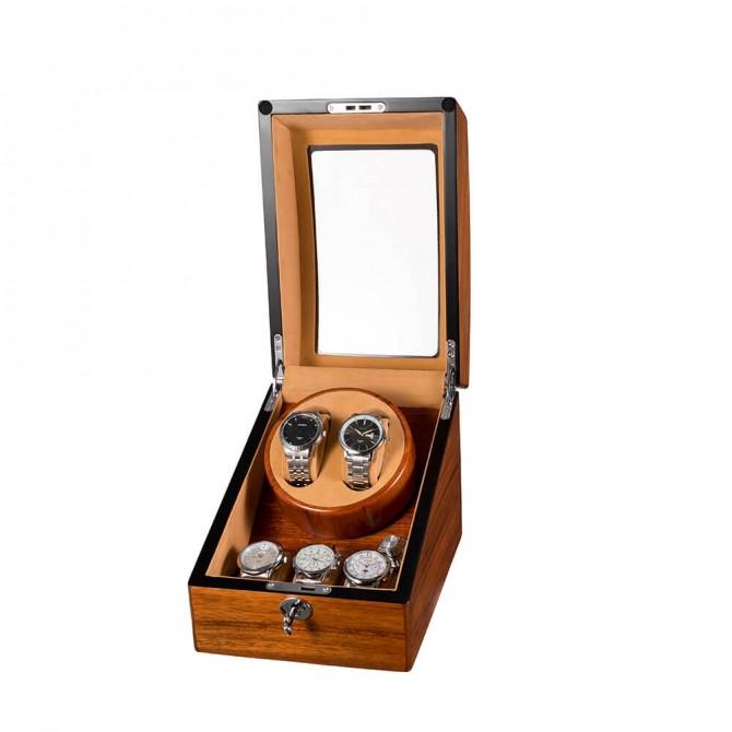 Jqueen Wooden Double Watch Winder Mandshurica