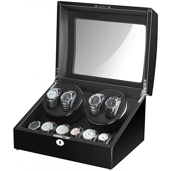 Maselex Quad Watch Winder With 6 Storage Case
