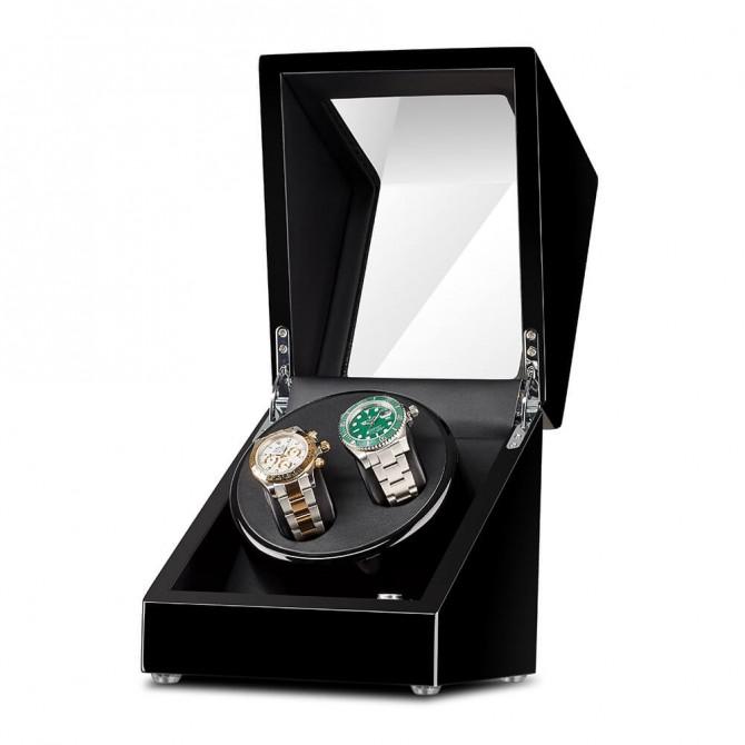 Best Sepano Wooden Double Watch Winder Black
