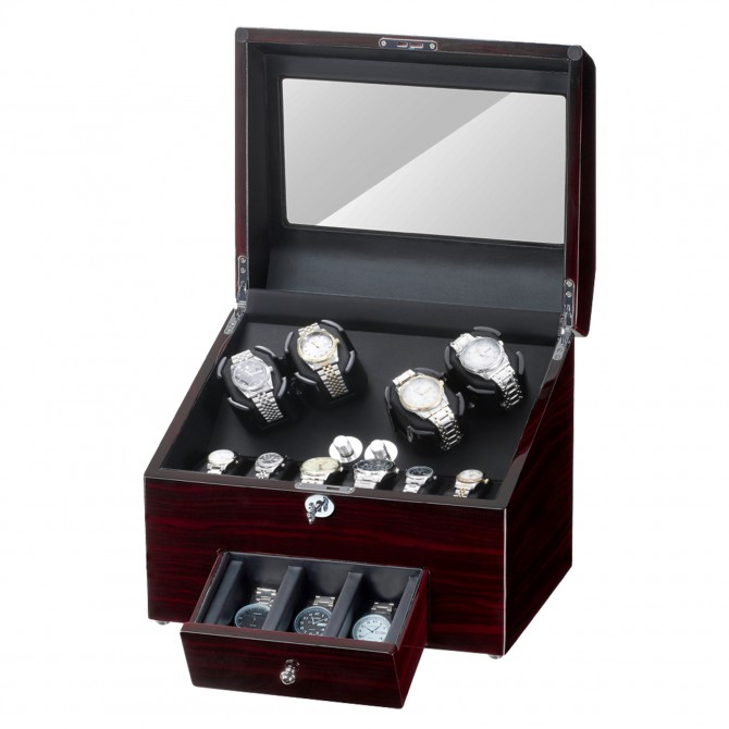 Sepano Watch Winders for Automatic Watches 4 Watch Winder with 9 Watch Storage Place